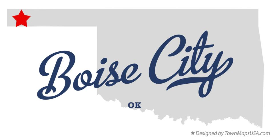 Map of Boise City Oklahoma OK