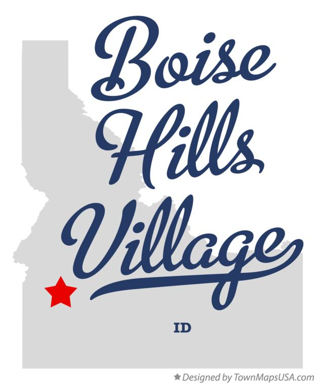 Map of Boise Hills Village Idaho ID