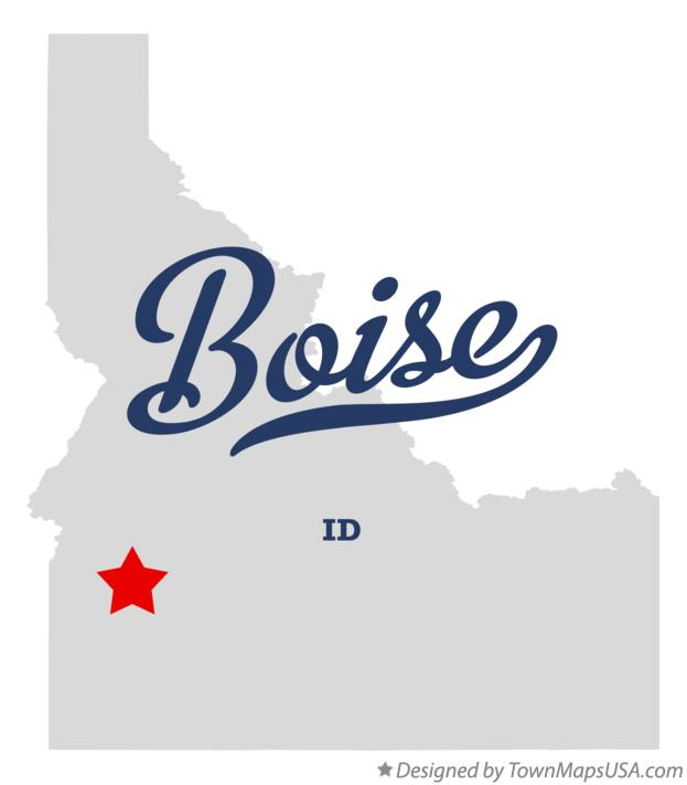 Map of Boise ID Idaho