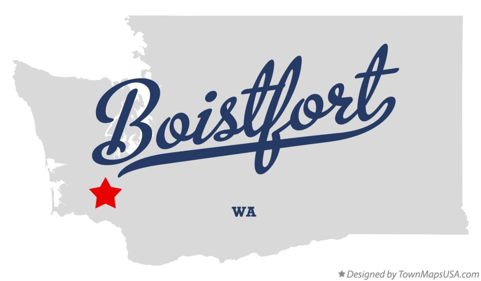 Map of Boistfort Washington WA