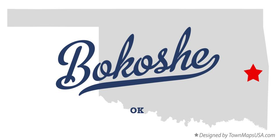 Map of Bokoshe Oklahoma OK