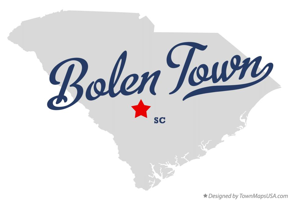 Map of Bolen Town South Carolina SC