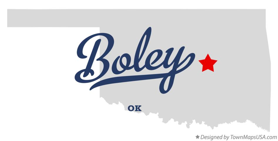 Map of Boley Oklahoma OK