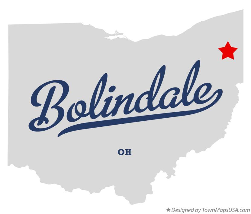 Map of Bolindale Ohio OH