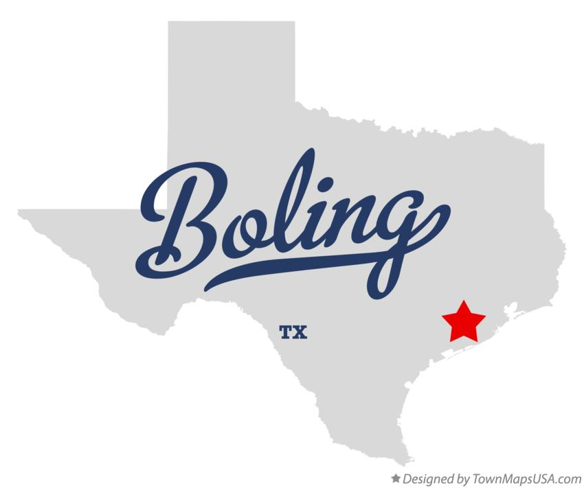 Map of Boling Texas TX
