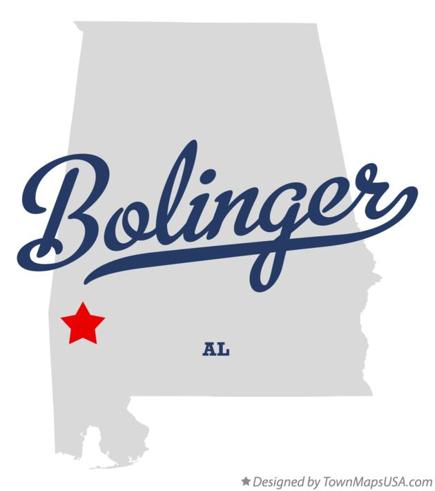 Map of Bolinger Alabama AL