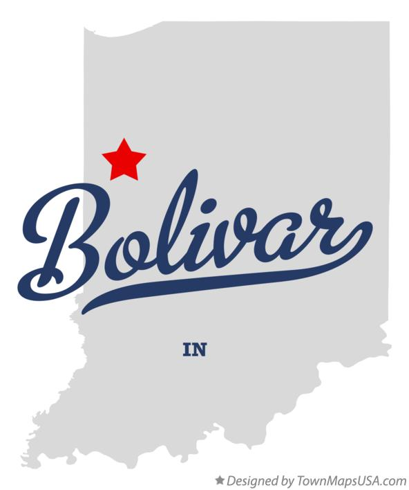 Map of Bolivar Indiana IN