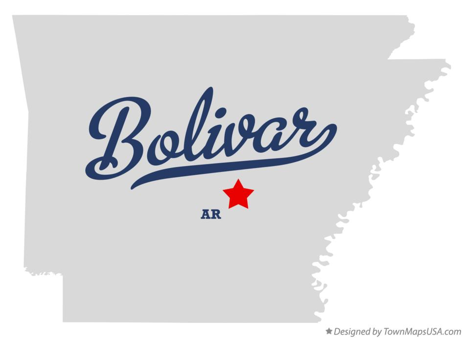 Map of Bolivar Arkansas AR