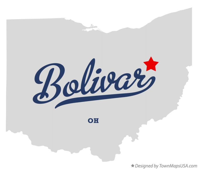 Map of Bolivar Ohio OH