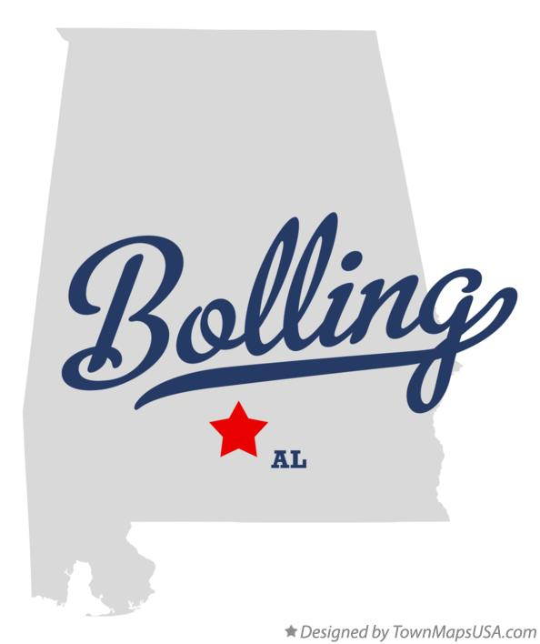 Map of Bolling Alabama AL