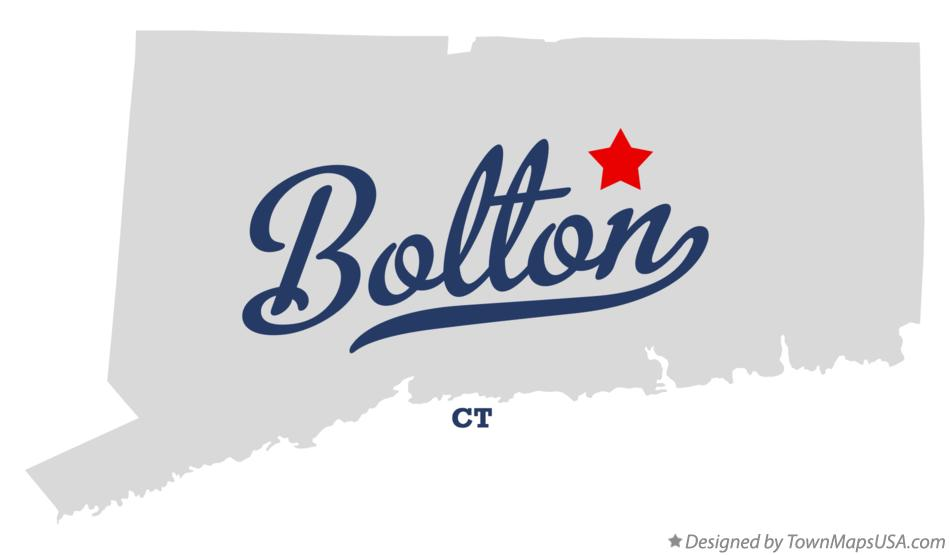 Map of Bolton Connecticut CT