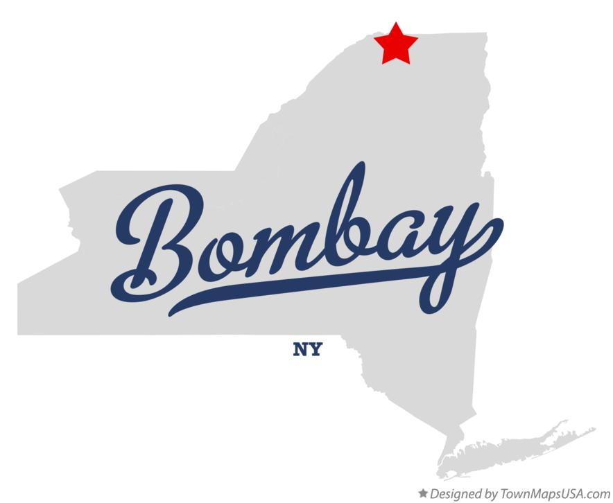 Map of Bombay New York NY