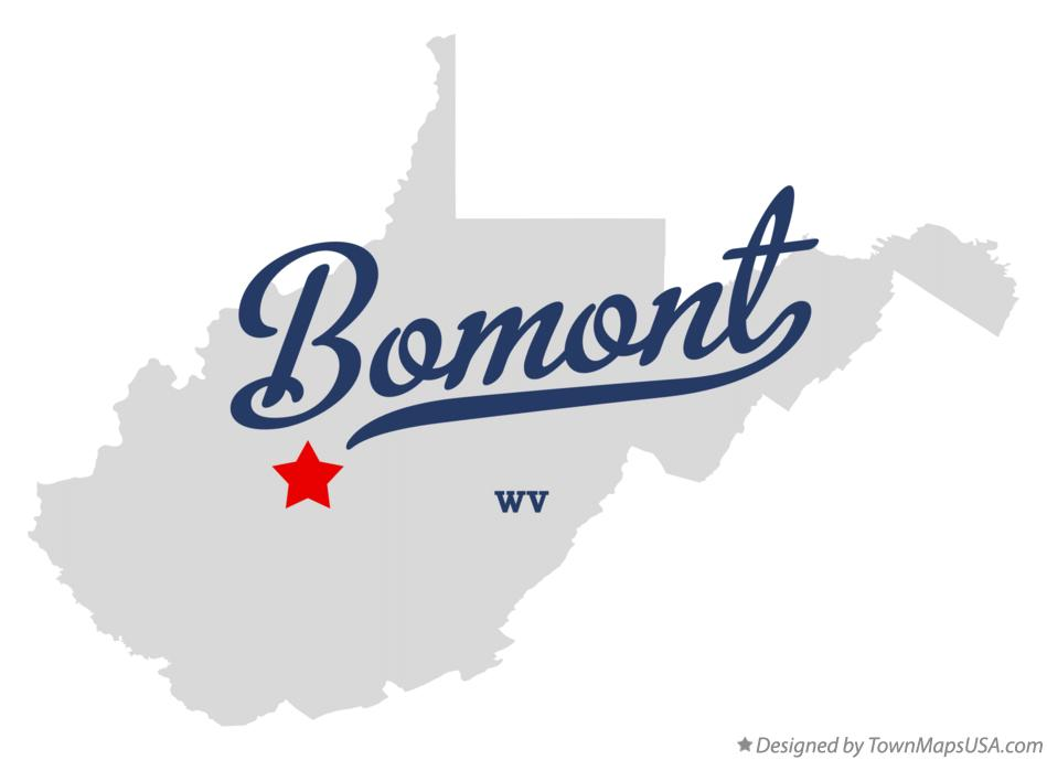 Map of Bomont West Virginia WV
