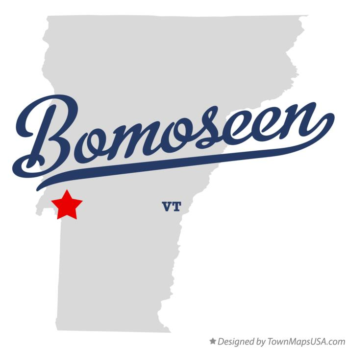 Map of Bomoseen Vermont VT