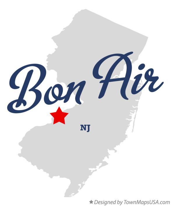 Map of Bon Air New Jersey NJ