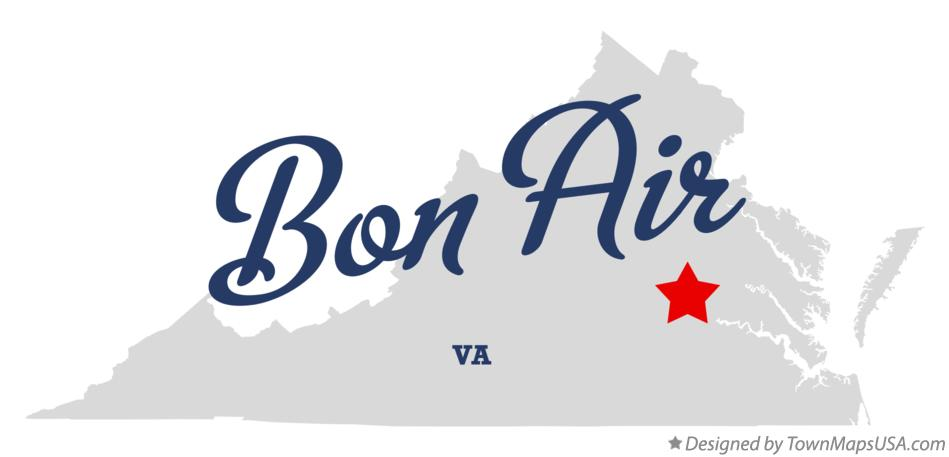 Map of Bon Air Virginia VA