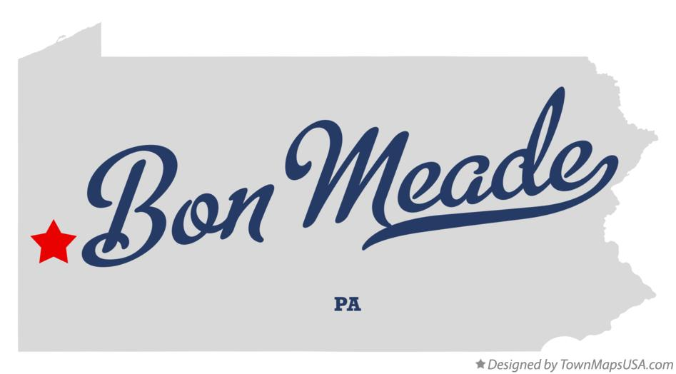 Map of Bon Meade Pennsylvania PA
