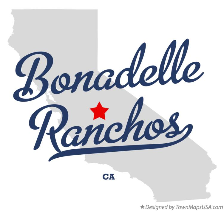 Map of Bonadelle Ranchos California CA