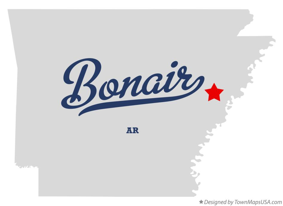 Map of Bonair Arkansas AR