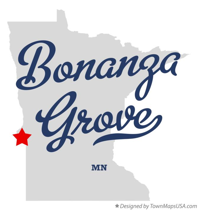 Map of Bonanza Grove Minnesota MN