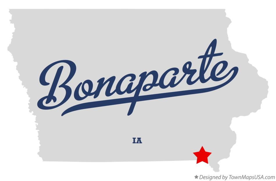 Map of Bonaparte Iowa IA