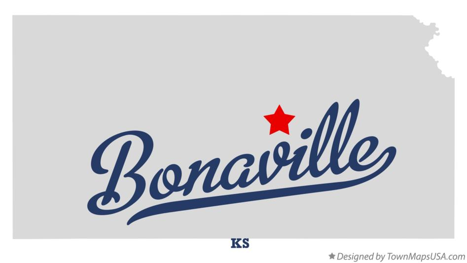 Map of Bonaville Kansas KS