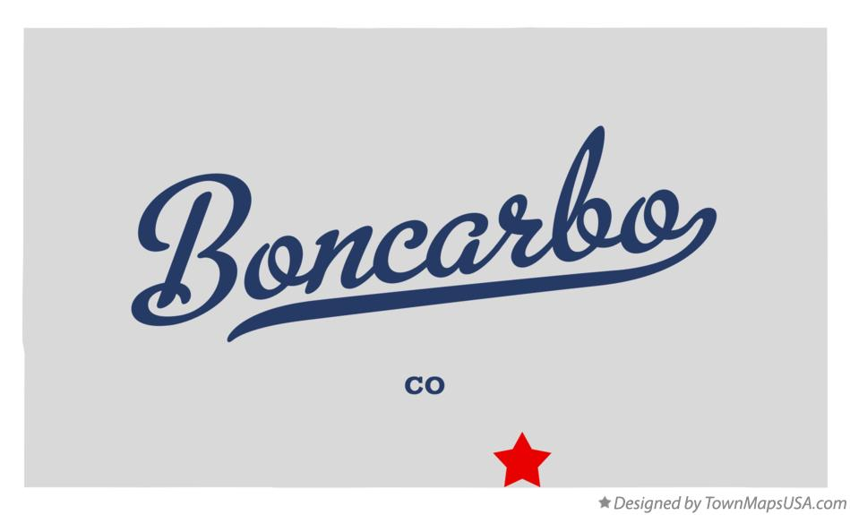Map of Boncarbo Colorado CO