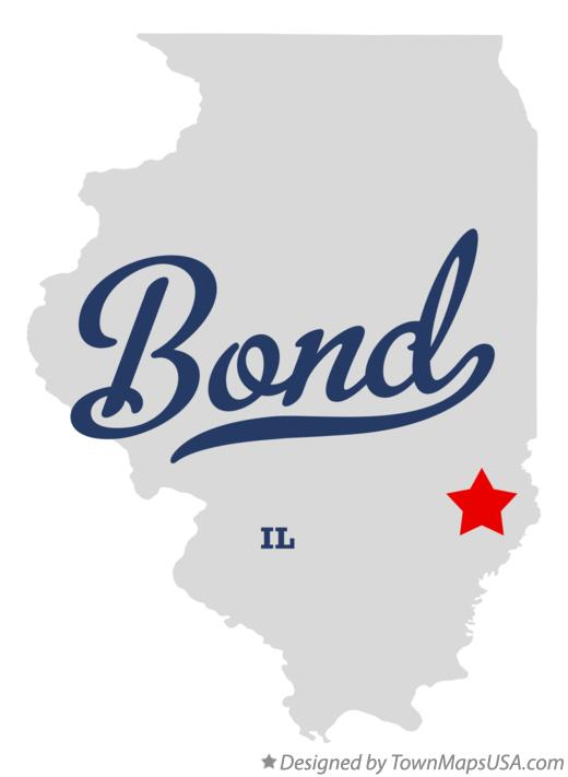 Map of Bond Illinois IL