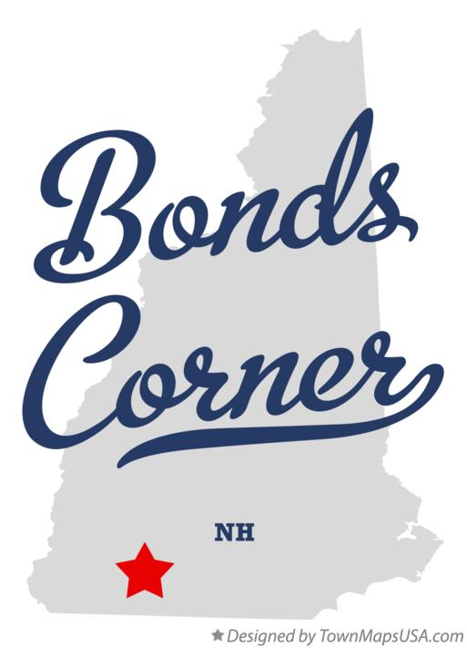 Map of Bonds Corner New Hampshire NH