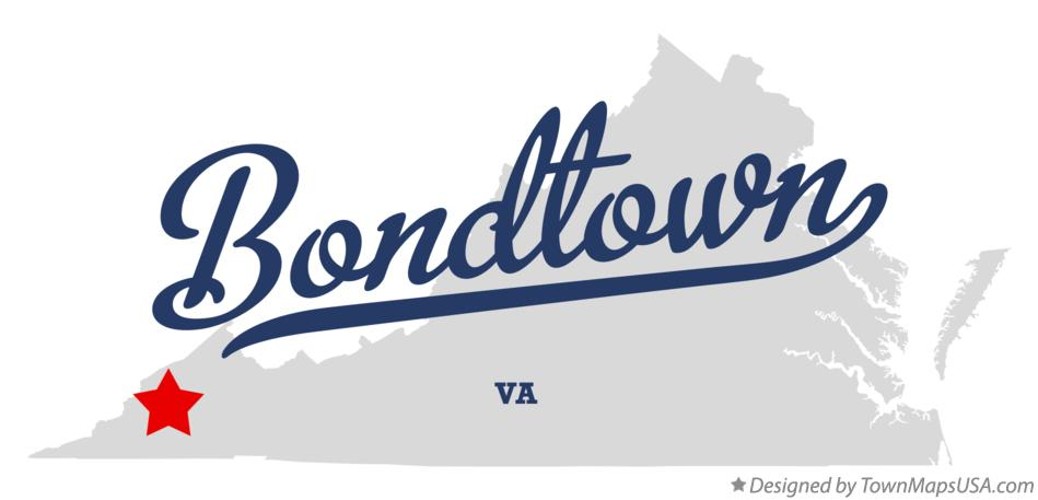 Map of Bondtown Virginia VA