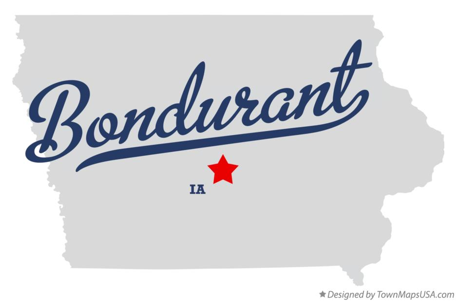 Map of Bondurant, IA, Iowa