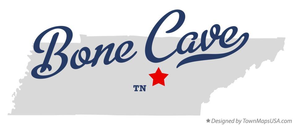 Map of Bone Cave Tennessee TN