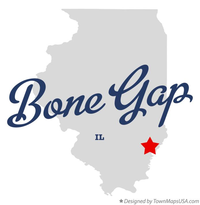 Map of Bone Gap Illinois IL