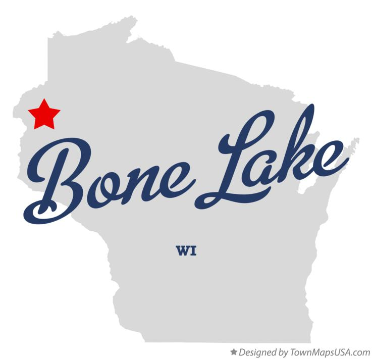 Map of Bone Lake Wisconsin WI
