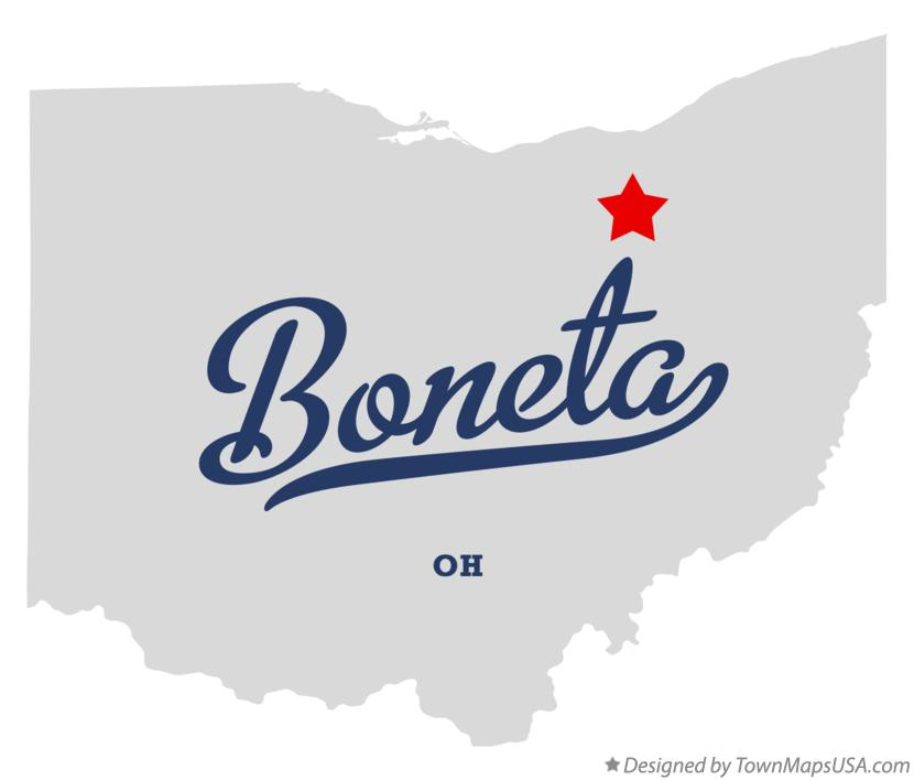Map of Boneta Ohio OH