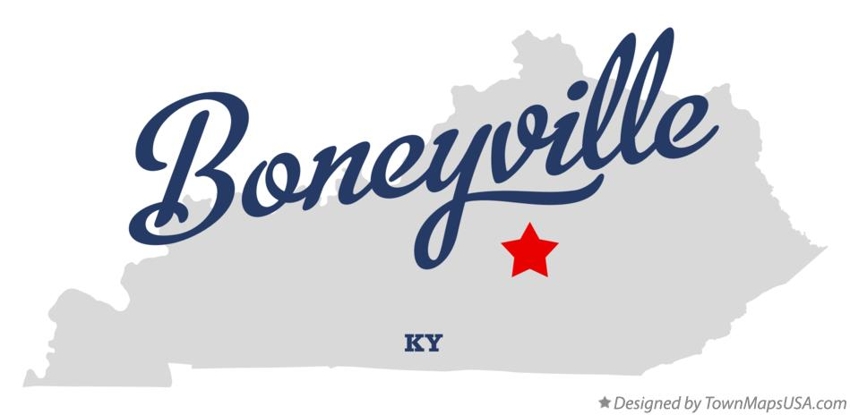 Map of Boneyville Kentucky KY