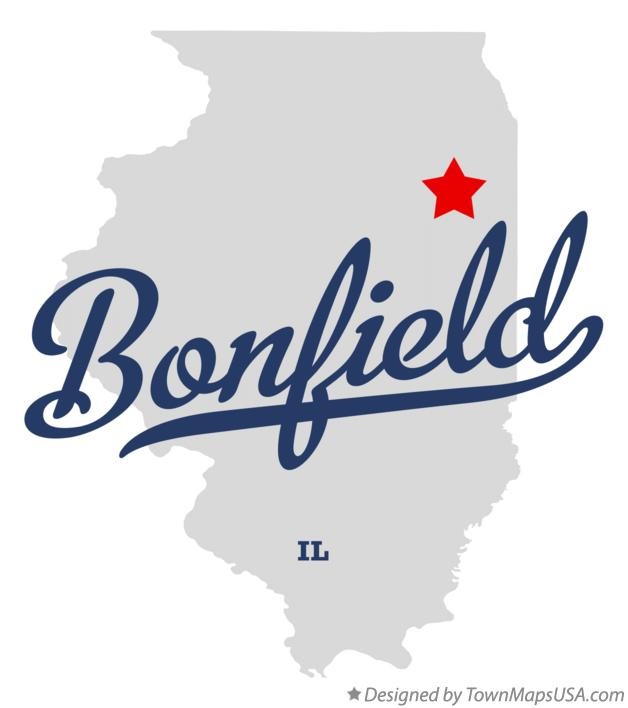 Map of Bonfield Illinois IL