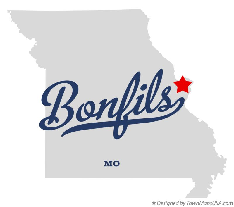 Map of Bonfils Missouri MO