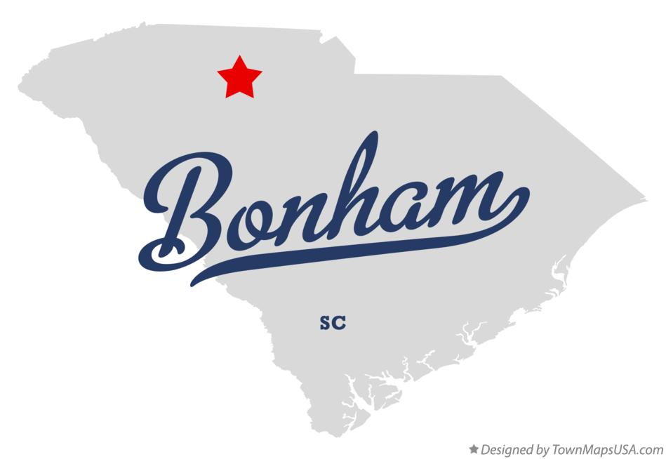 Map of Bonham South Carolina SC