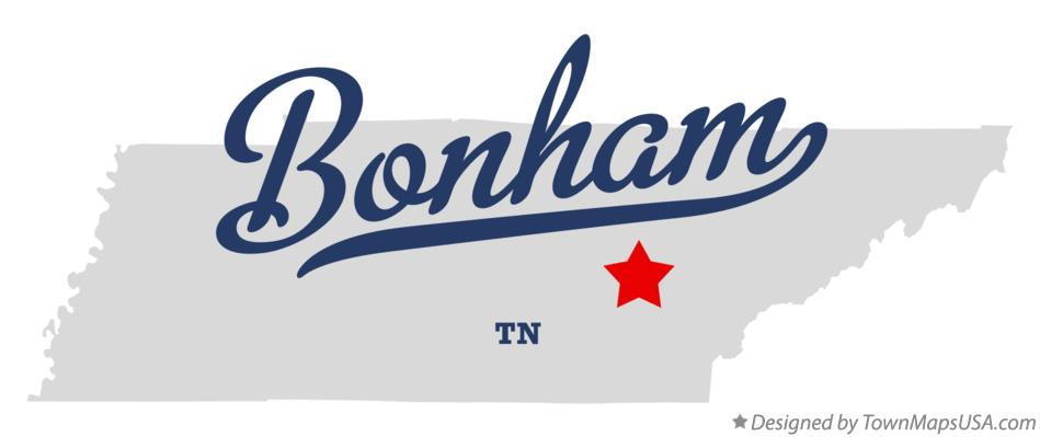 Map of Bonham Tennessee TN