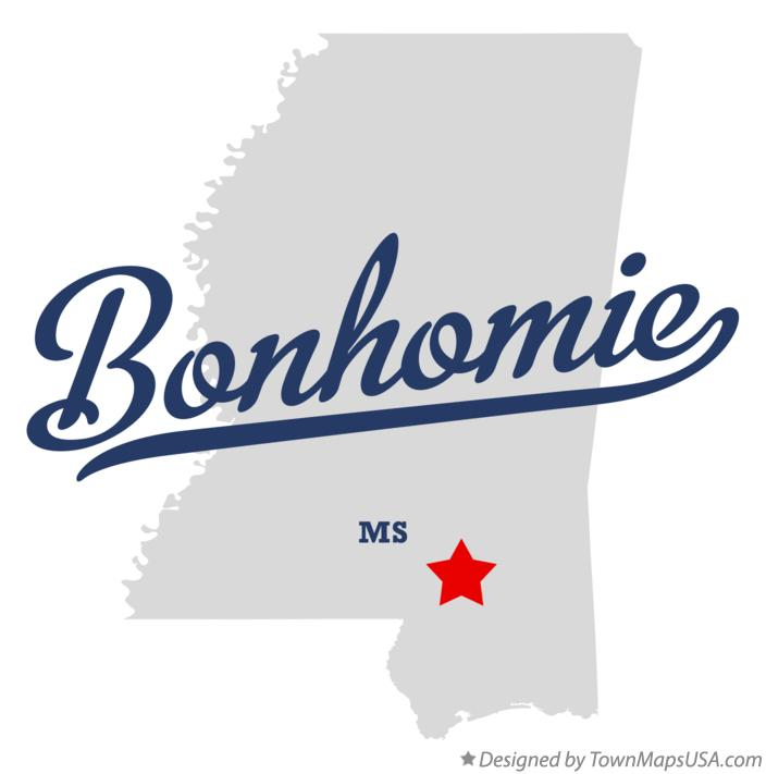 Map of Bonhomie Mississippi MS