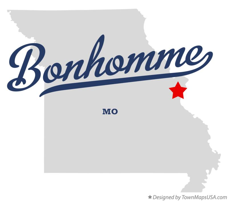 Map of Bonhomme Missouri MO