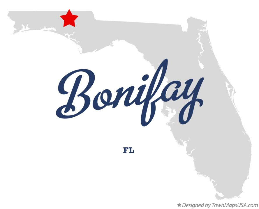 Map of Bonifay Florida FL