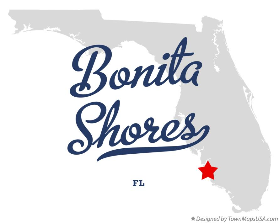Map of Bonita Shores Florida FL