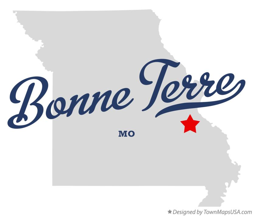 Map of Bonne Terre MO Missouri
