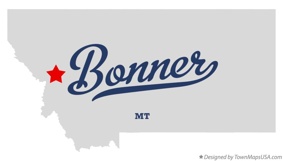 Map of Bonner Montana MT