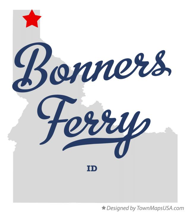 Map of Bonners Ferry Idaho ID
