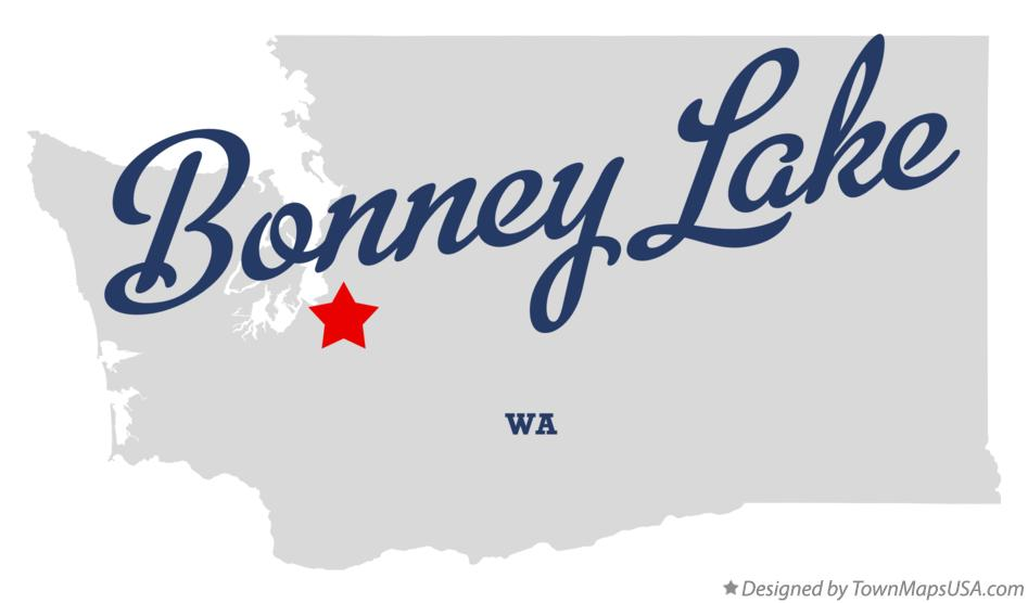 Map of Bonney Lake Washington WA