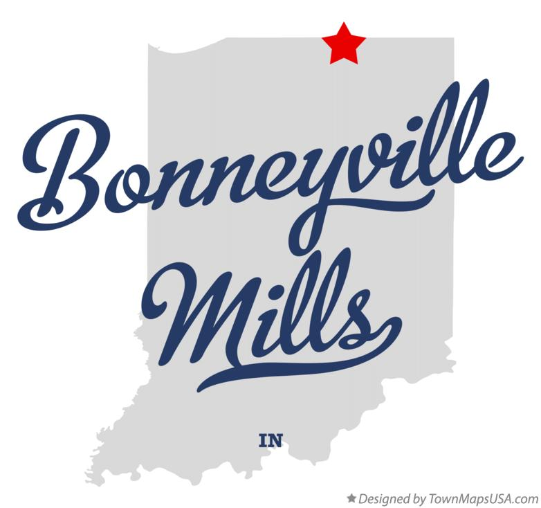 Map of Bonneyville Mills Indiana IN