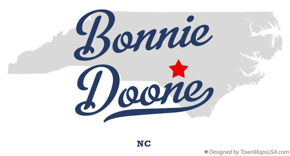 Map of Bonnie Doone North Carolina NC